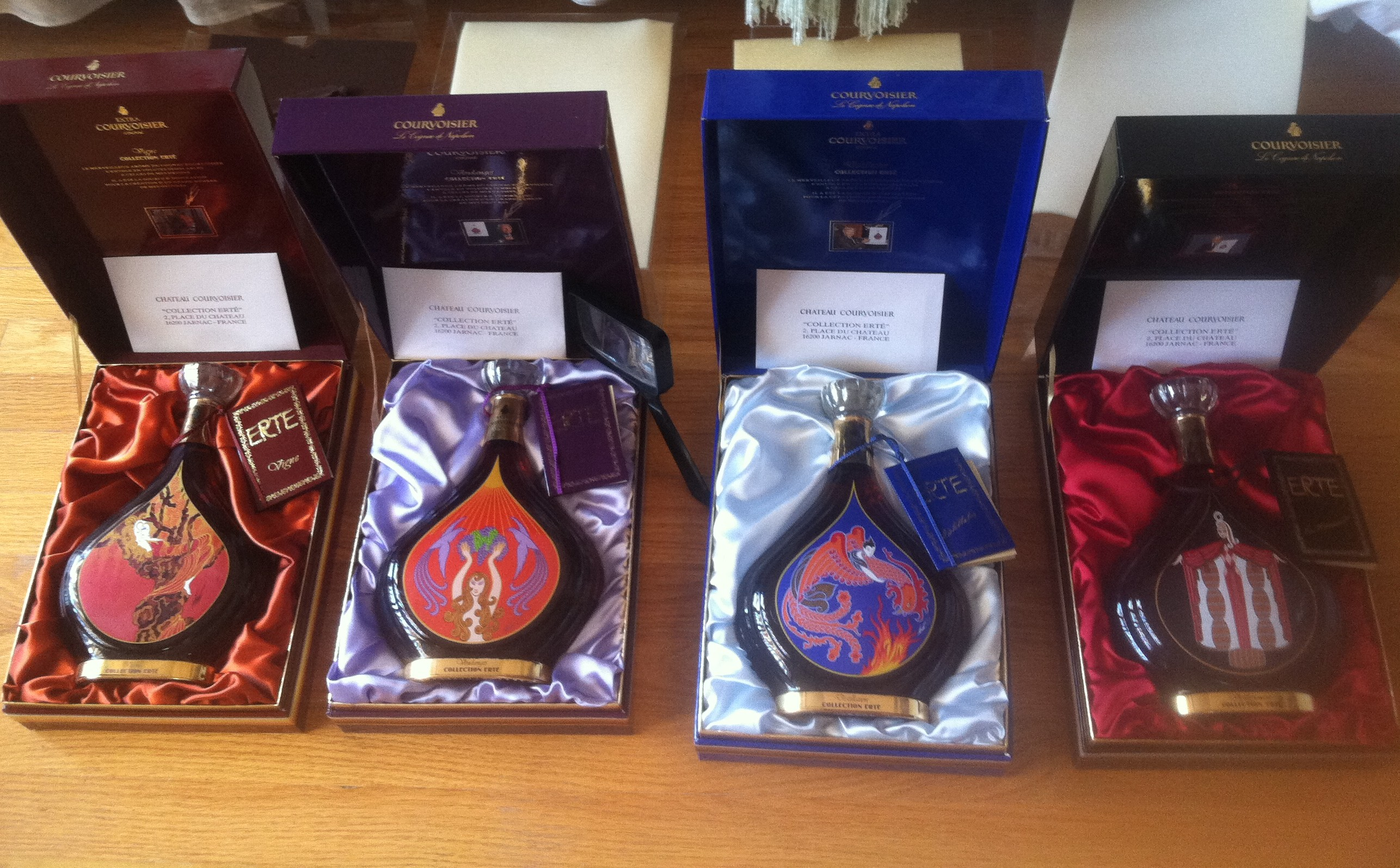 Complete Erte Courvoisier Cognac Collection