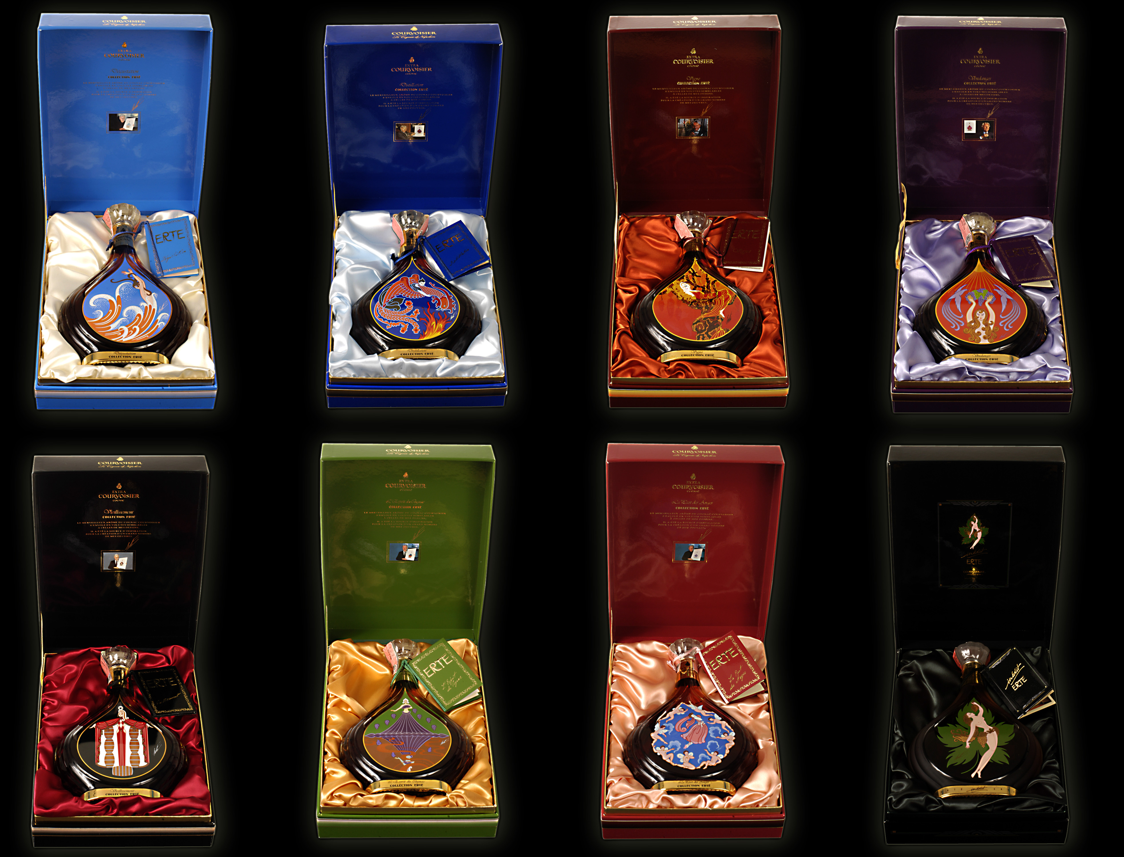 Courvoisier Cognac: Complete Erte Collection