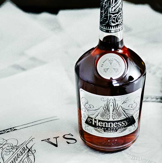 Tattoo icon Scott Campbell designs Hennessy Very Special Limited Edition bottle