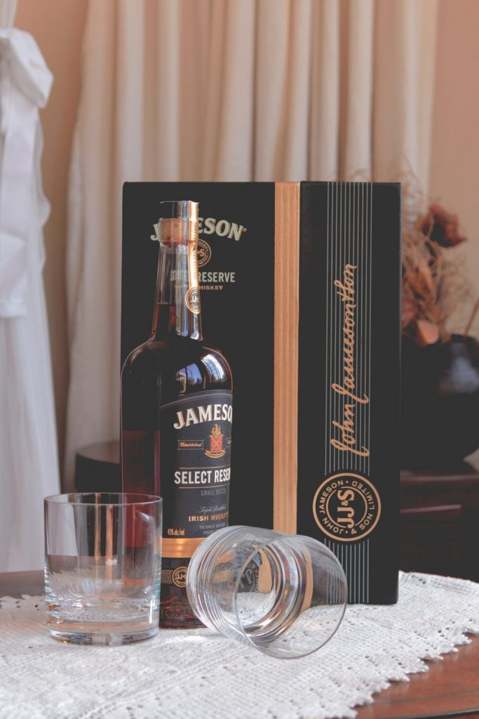 A bottle of Jameson Irish Whiskey