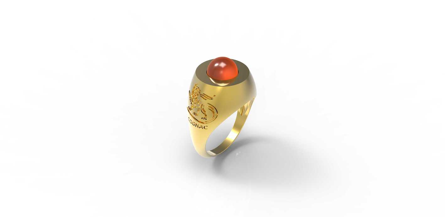 A. de Fussigny x Arvin: World Exclusive Cognac Signet Ring