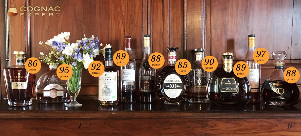 Multiple bottles of Cognac