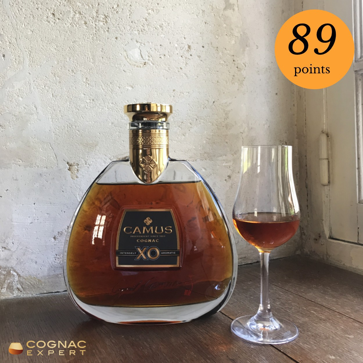 Came XO Cognac and glass
