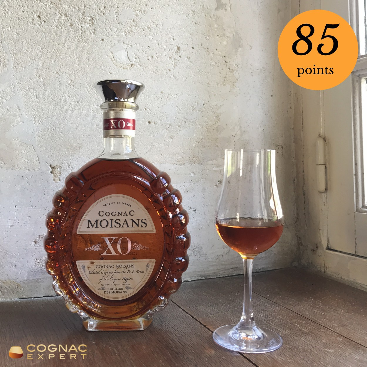 Moisons XO Cognac and glass