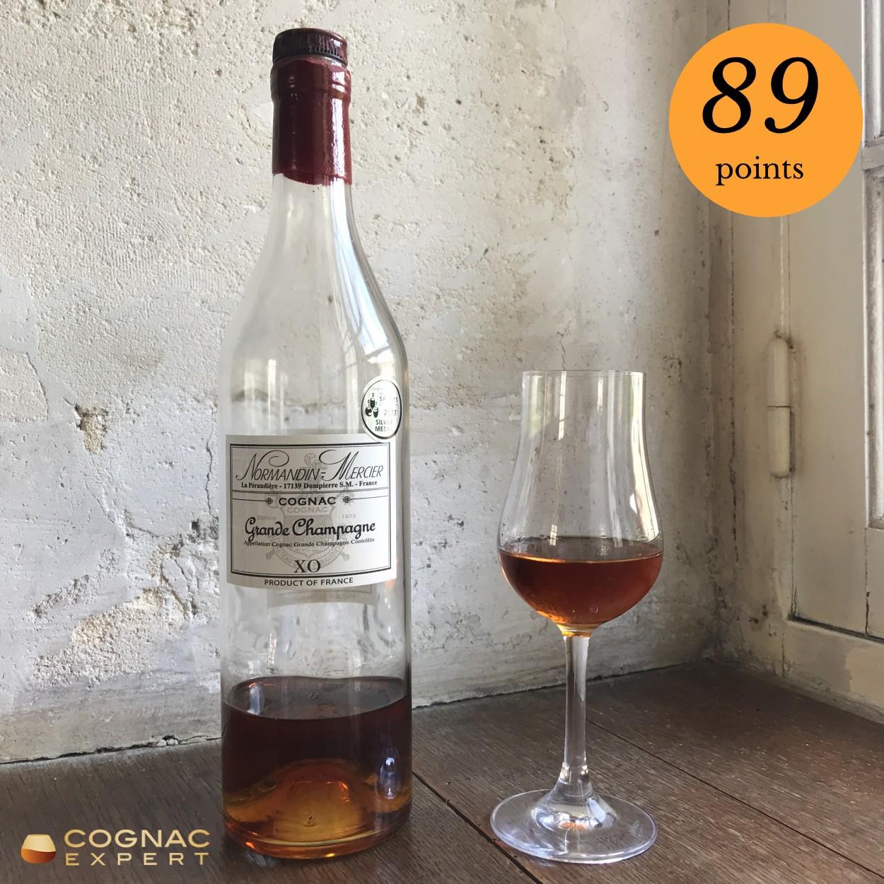 Normandin Mercier XO Cognac and glass