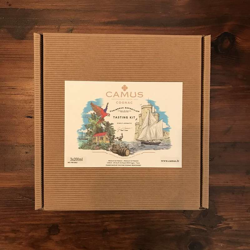Box showing Camus Caribbean Expedition tasting kit