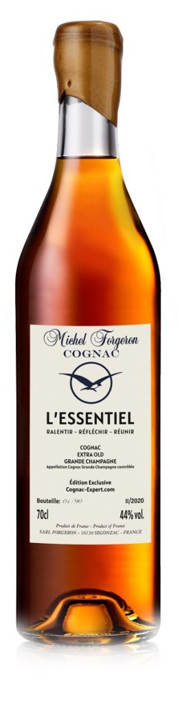 Hand waxed bottle of Cognac