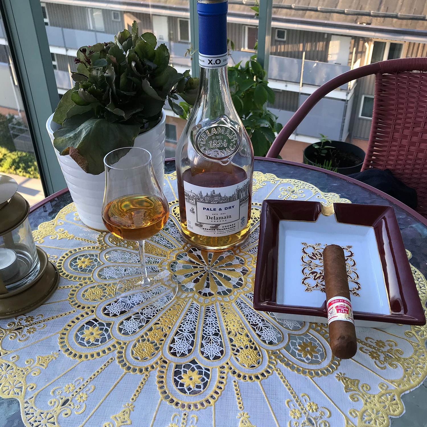 Delamain Pale & Dry enjoyed with a cigar