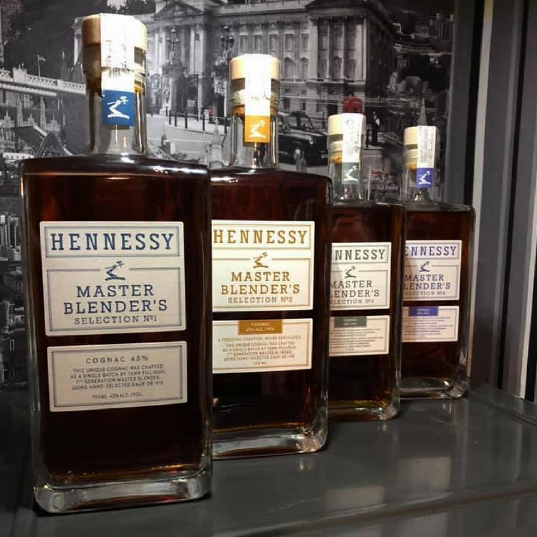 4 bottles of Hennessy Master Blender's Selection 1-4