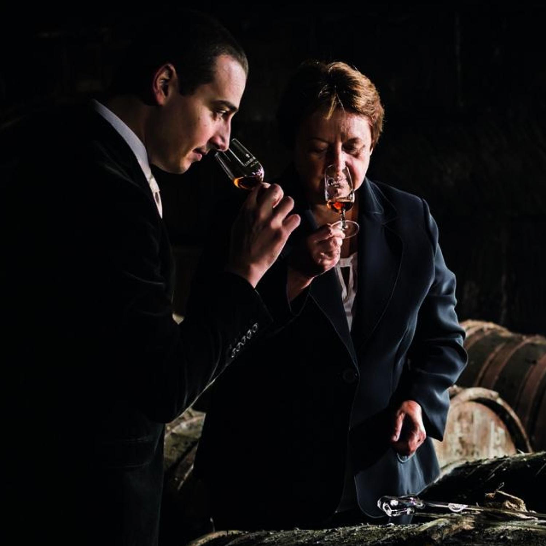 Baptiste and Pierrette tasting cognac