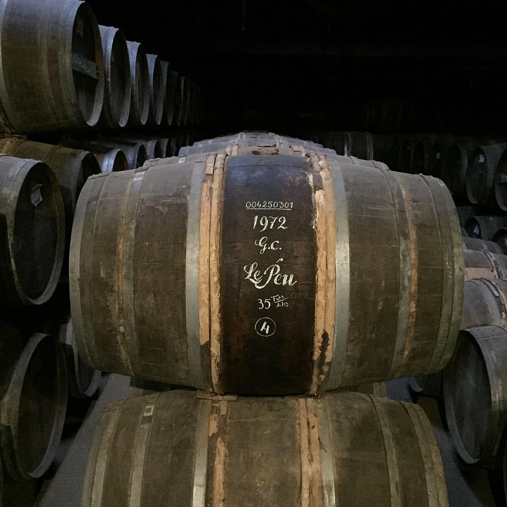 1972 Grande Champagne Le Peu barrel
