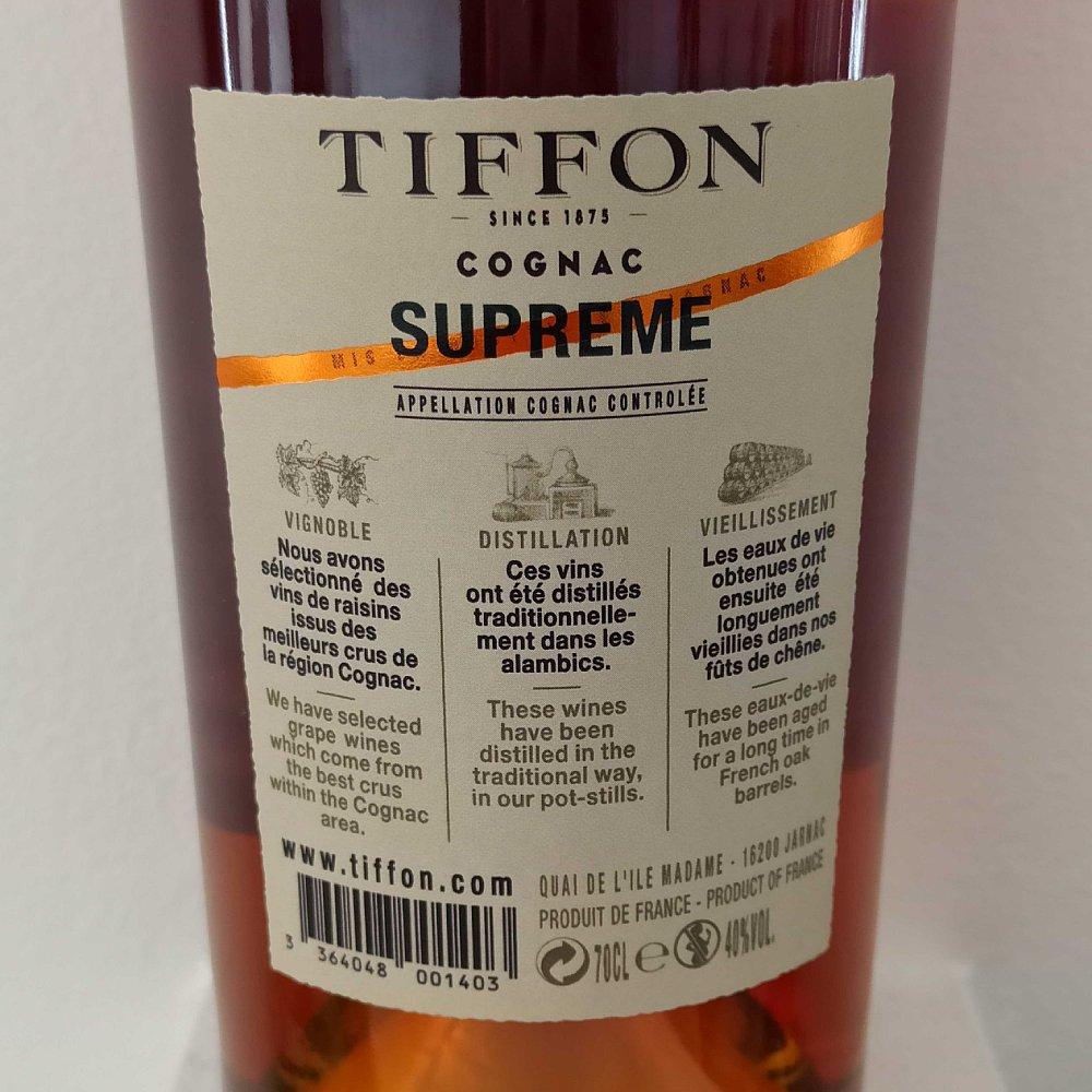 Tiffon Supreme back label