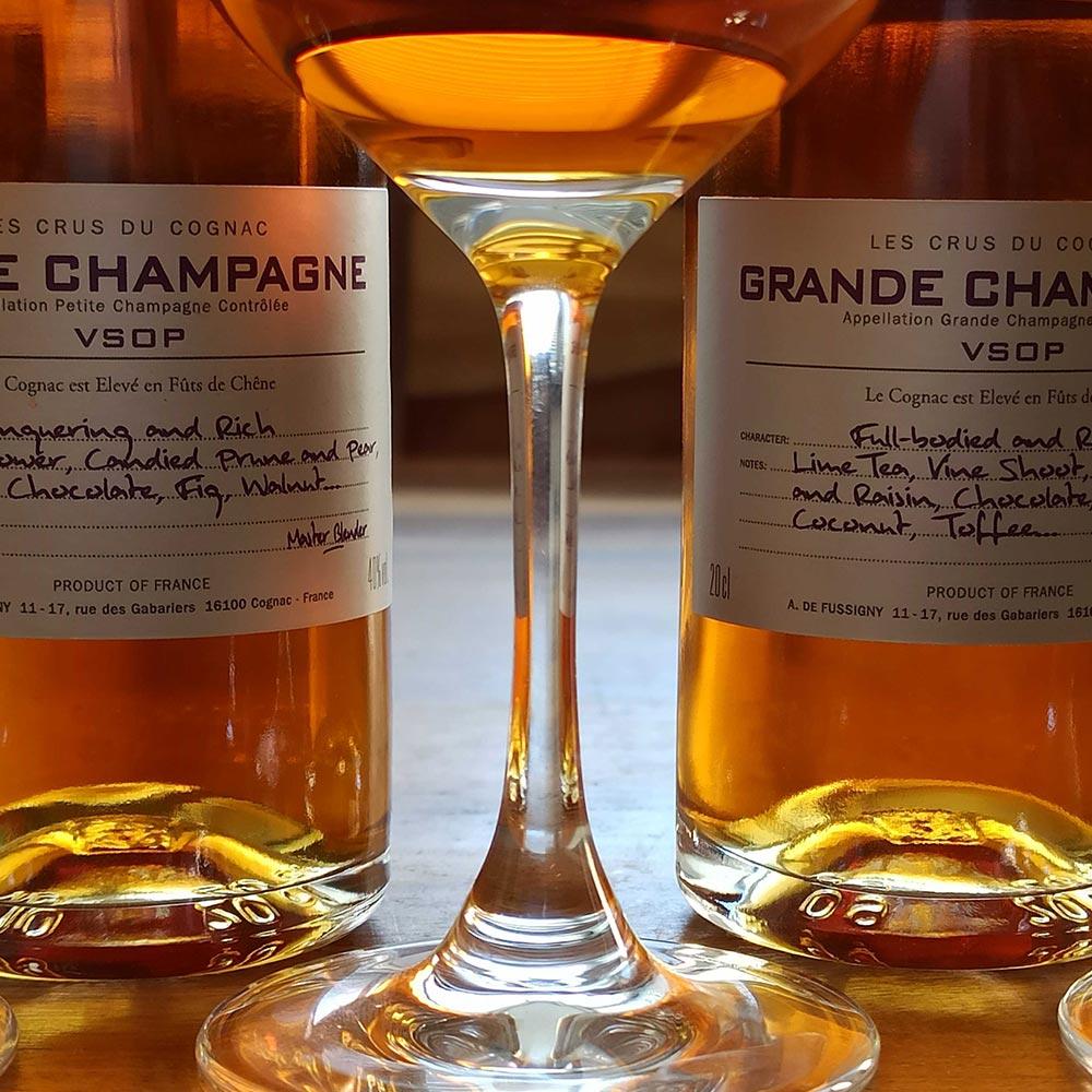A. de Fussigny Petite Champagne and Grande Champagne VSOP Cognac