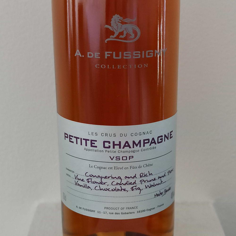 A. de Fussigny Petite Champagne VSOP front label