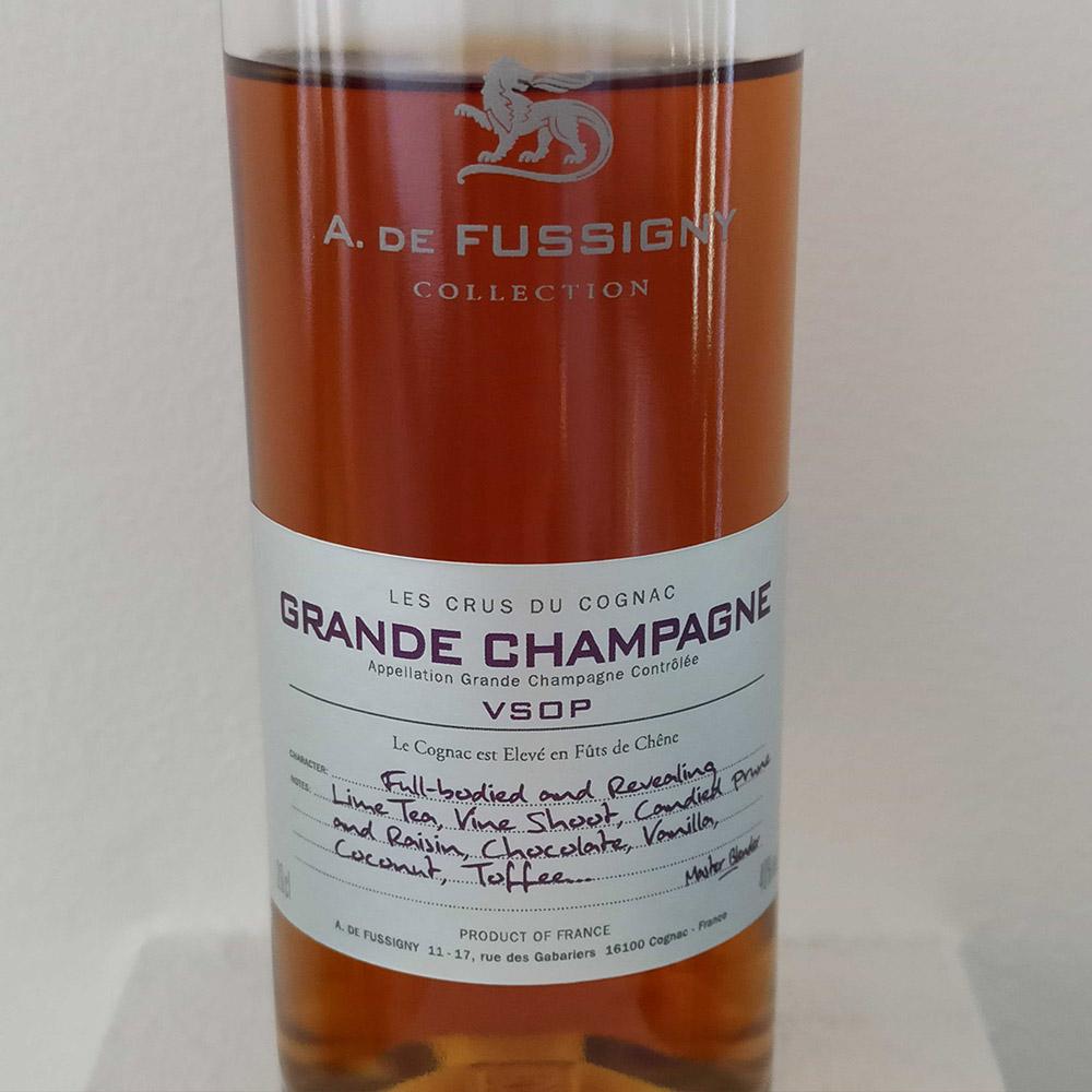 A. de Fussigny Grande Champagne front label