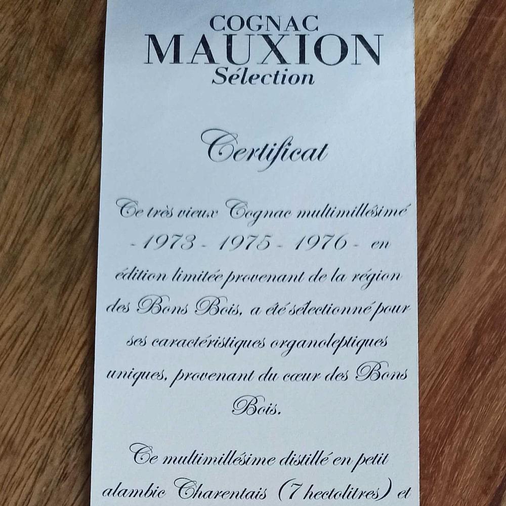 Mauxion Sélection Multimillésimes Certificat