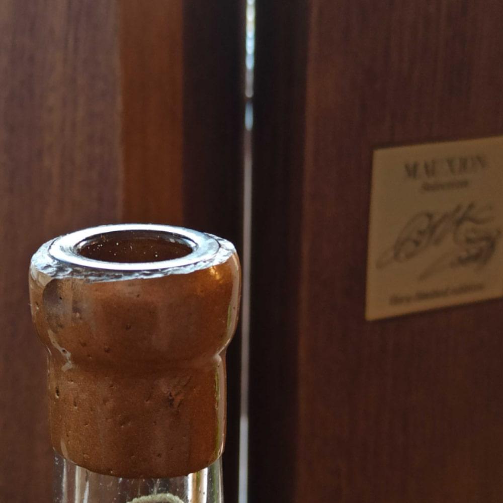 Mauxion Sélection Multimillésimes Cognac opened wax-sealed bottle