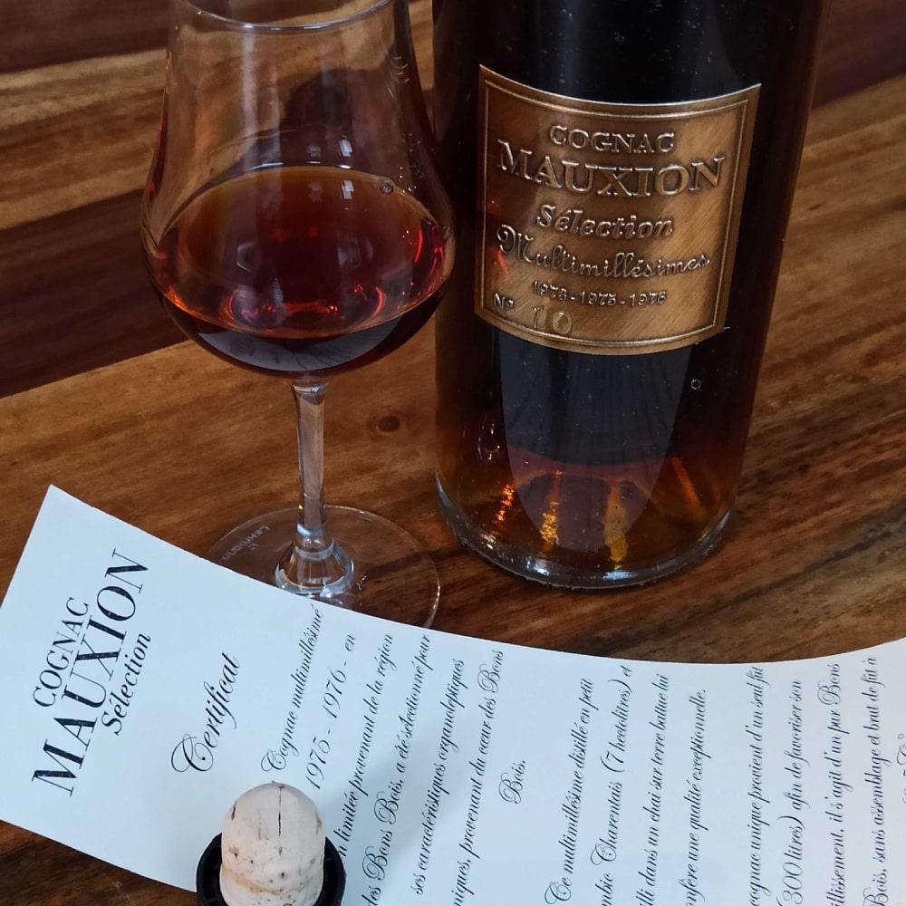 Mauxion Sélection Multimillésimes Cognac with glass, cork and certificat
