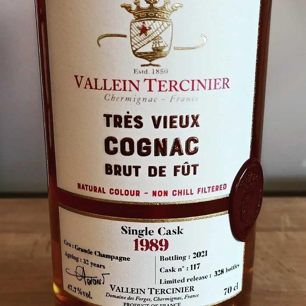 Vallein Tercinier Brut de Fût 1989 front label