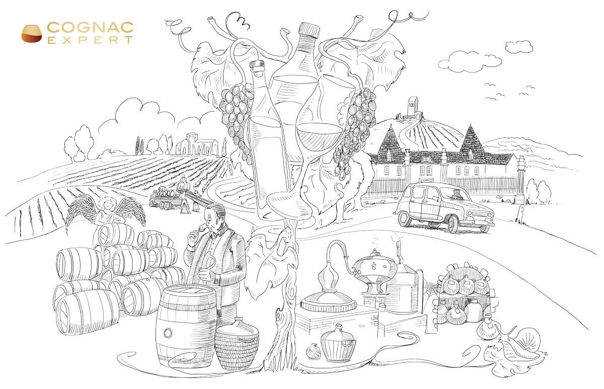 2020 Cognac Calendar Illustration