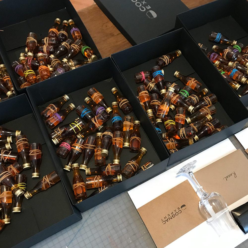 2019 Premium Cognac Calendar mini bottles with rubber bands